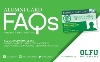 Our Lady Od Fatima University Alumni Card
