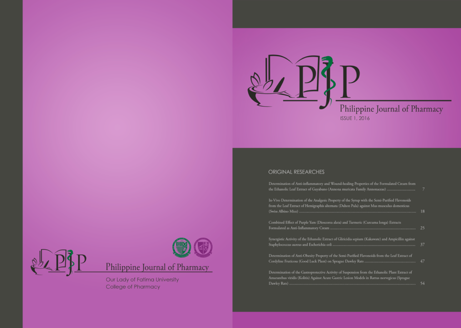 PHILIPPINE JOURNAL OF PHARMACY