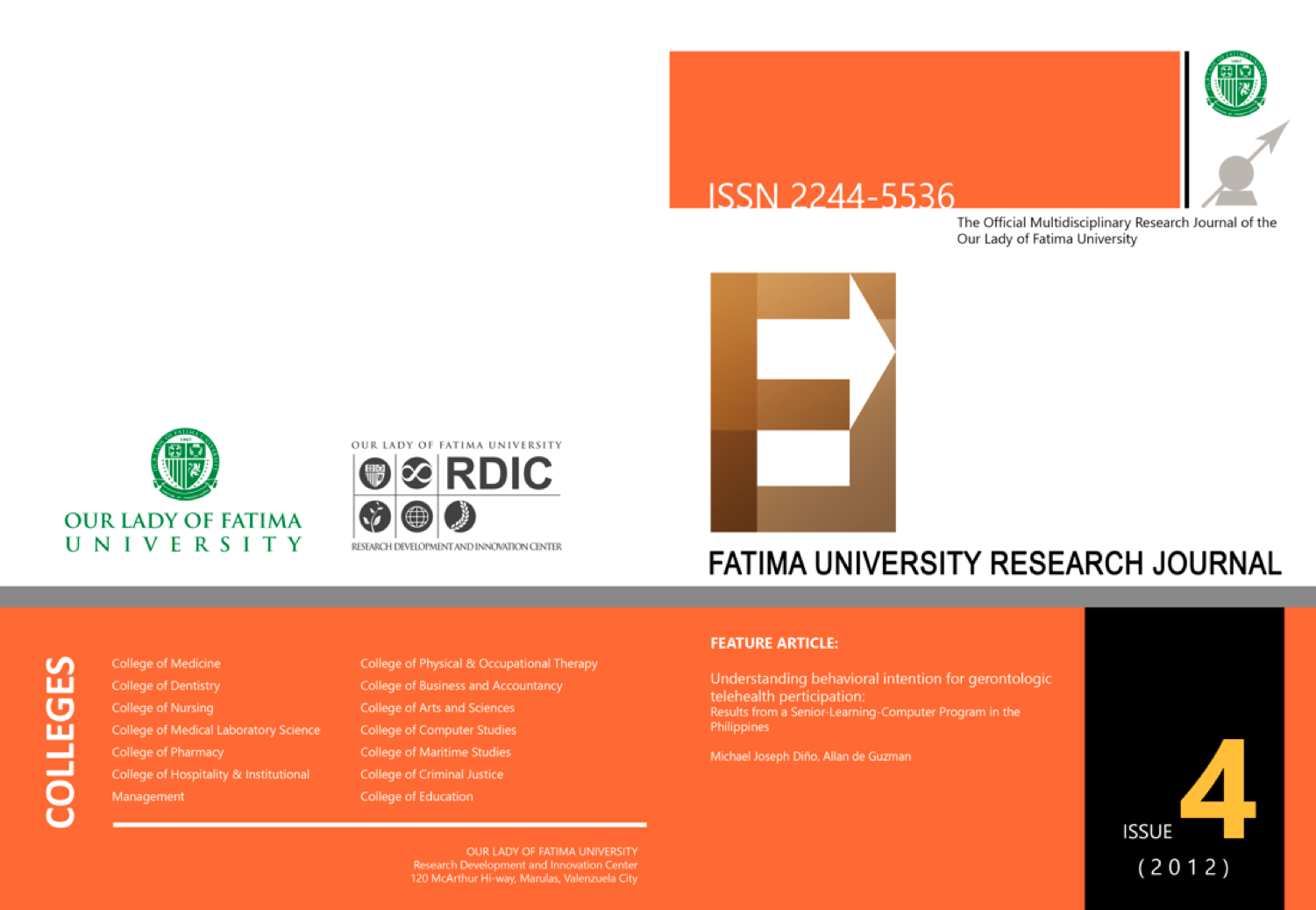 FATIMA UNIVERSITY RESEARCH JOURNAL