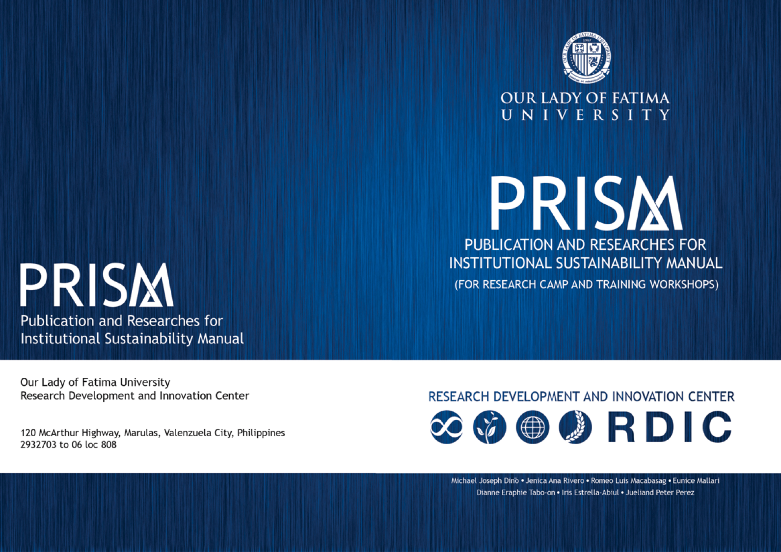 PUBLICATION AND RESEARCH FOR INSTITUTIONAL SUSTAINABILITY MANUAL (PRISM)