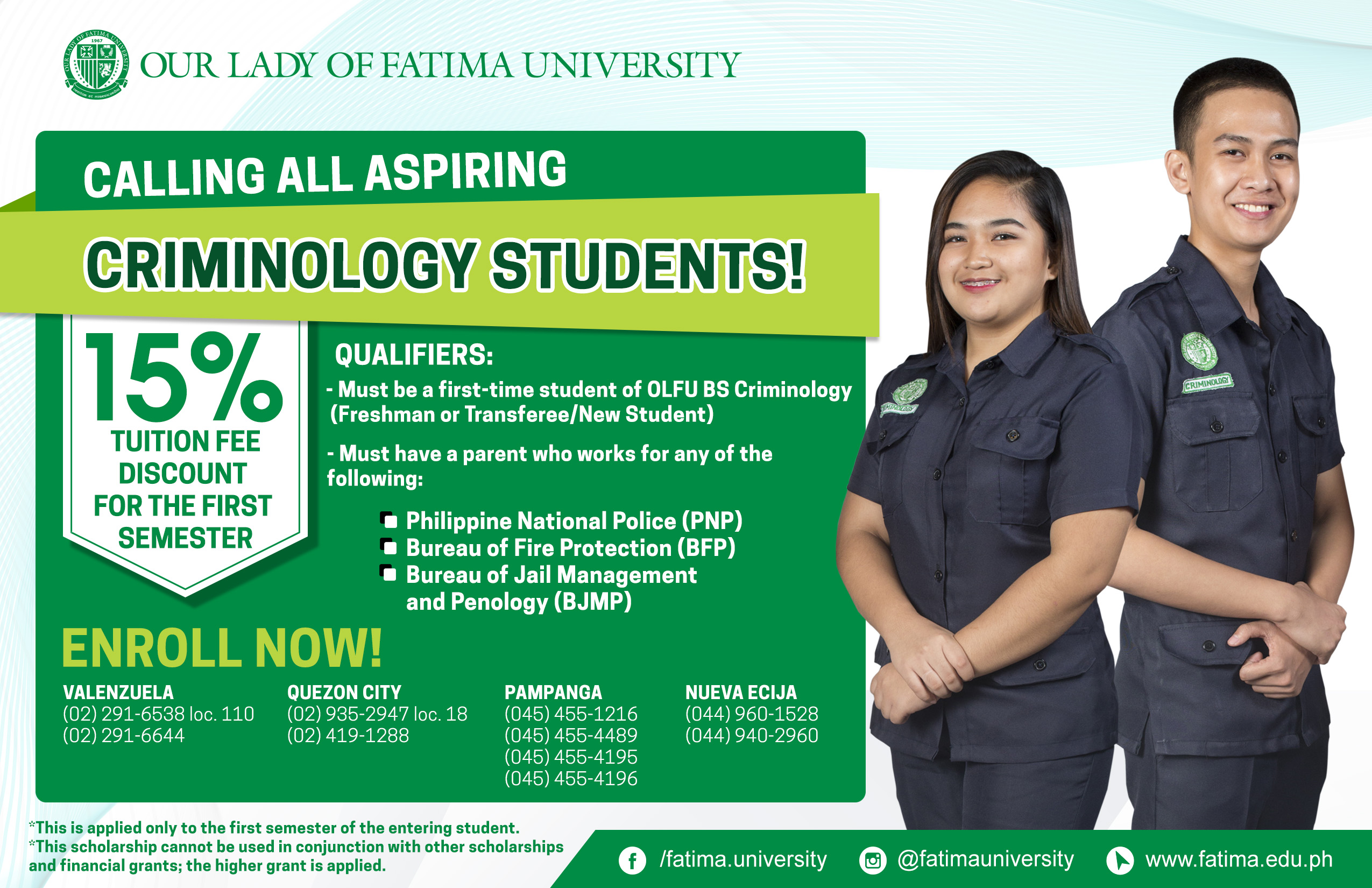 OLFU offers Tuition Fee Discount to qualified Criminology Enrollees