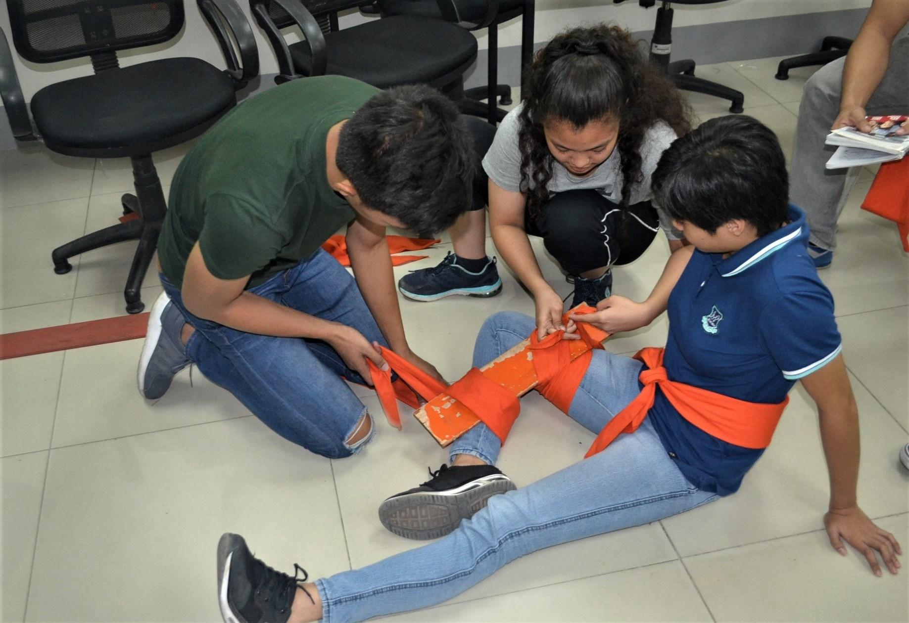 OLFU Criminology Students undergo Emergency Preparedness Training