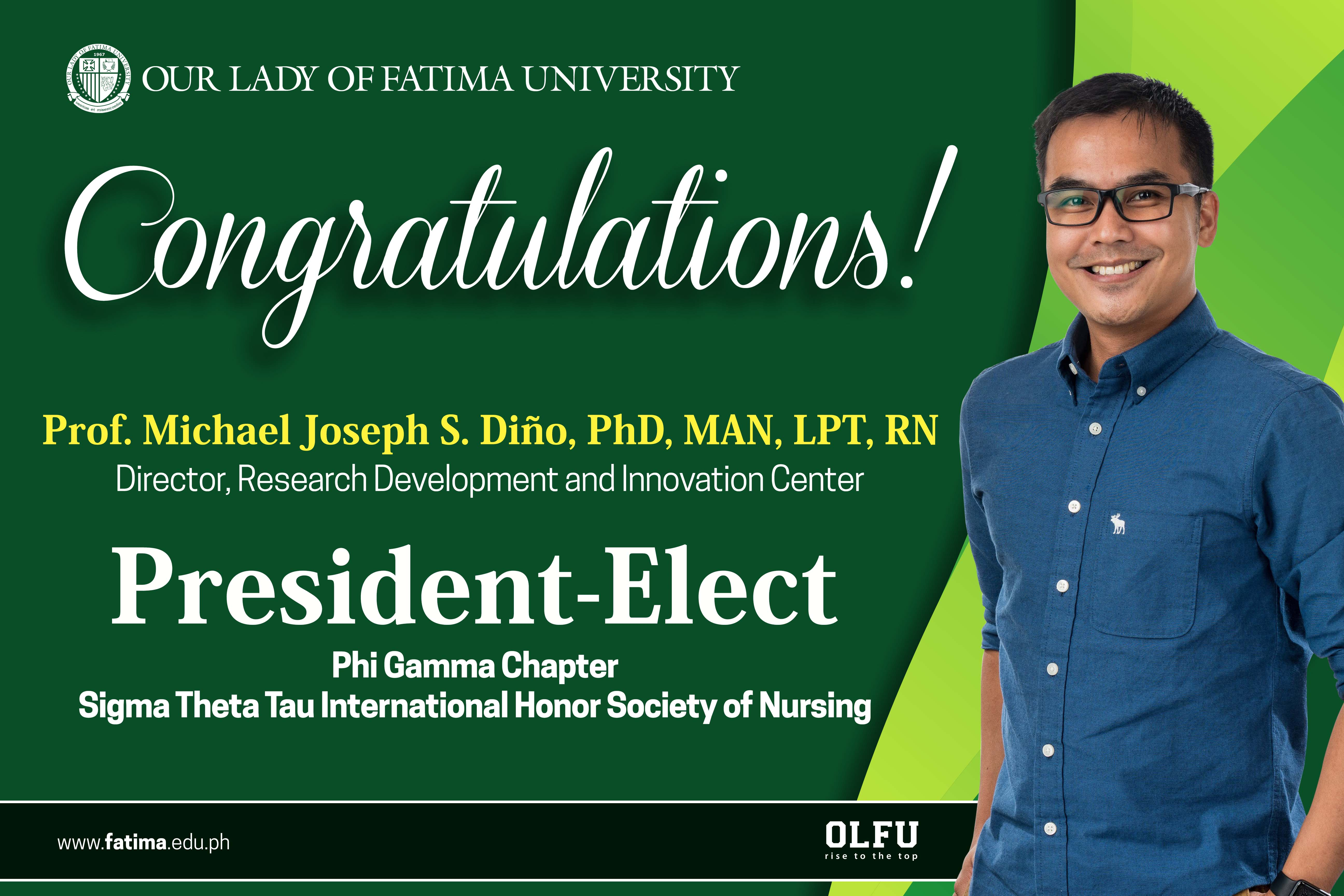 RDIC's Dr. Dino declared President-Elect of Sigma's Phi Gamma Chapter