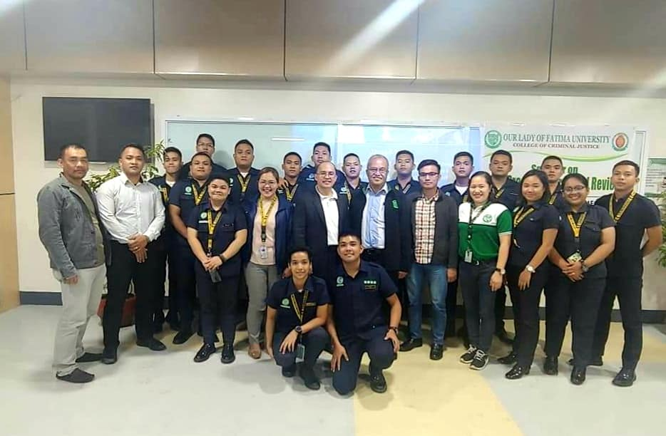 University of the Cordilleras visits OLFU's College of Criminal Justice