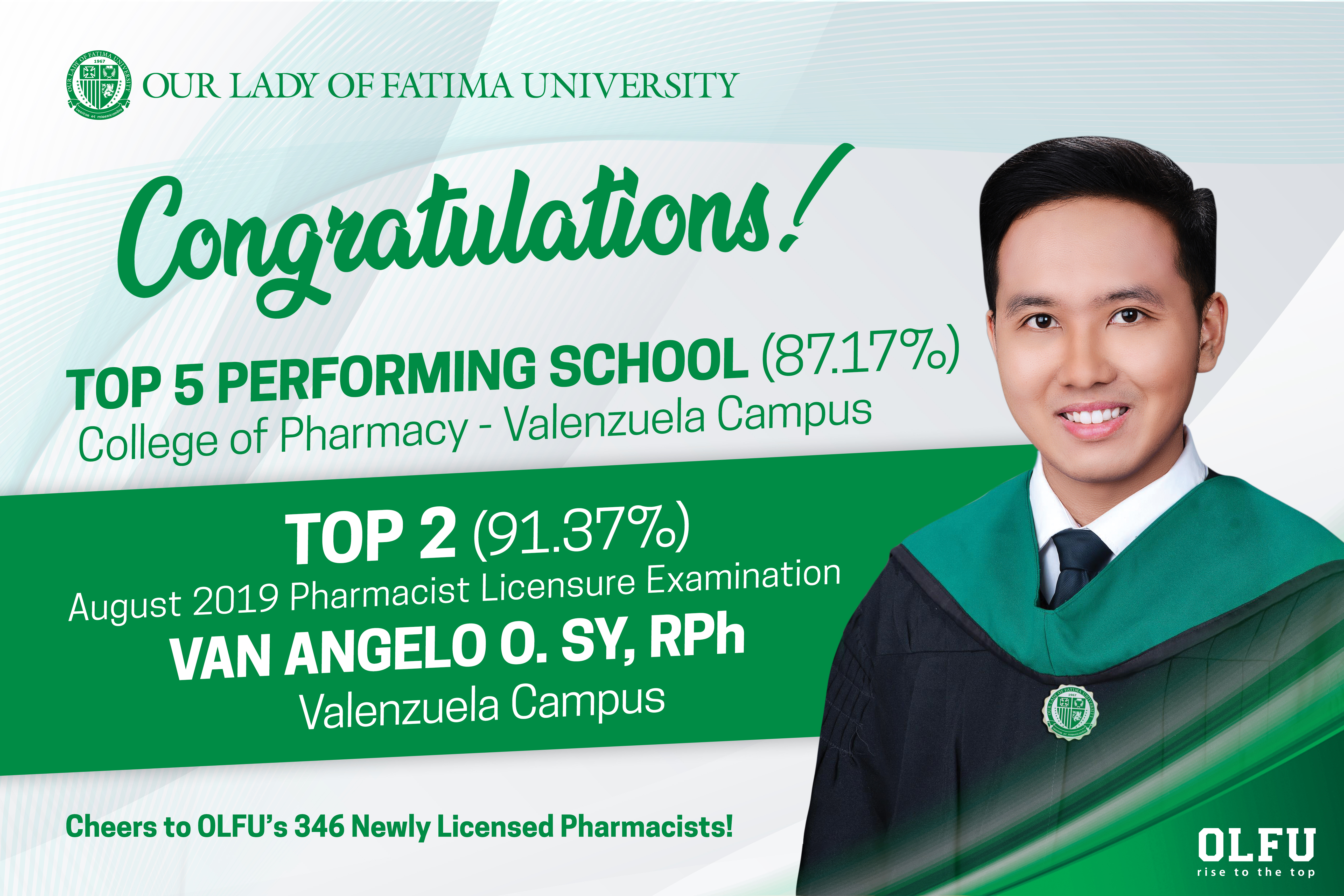 College of Pharmacy notches Dual Win in Board Exams