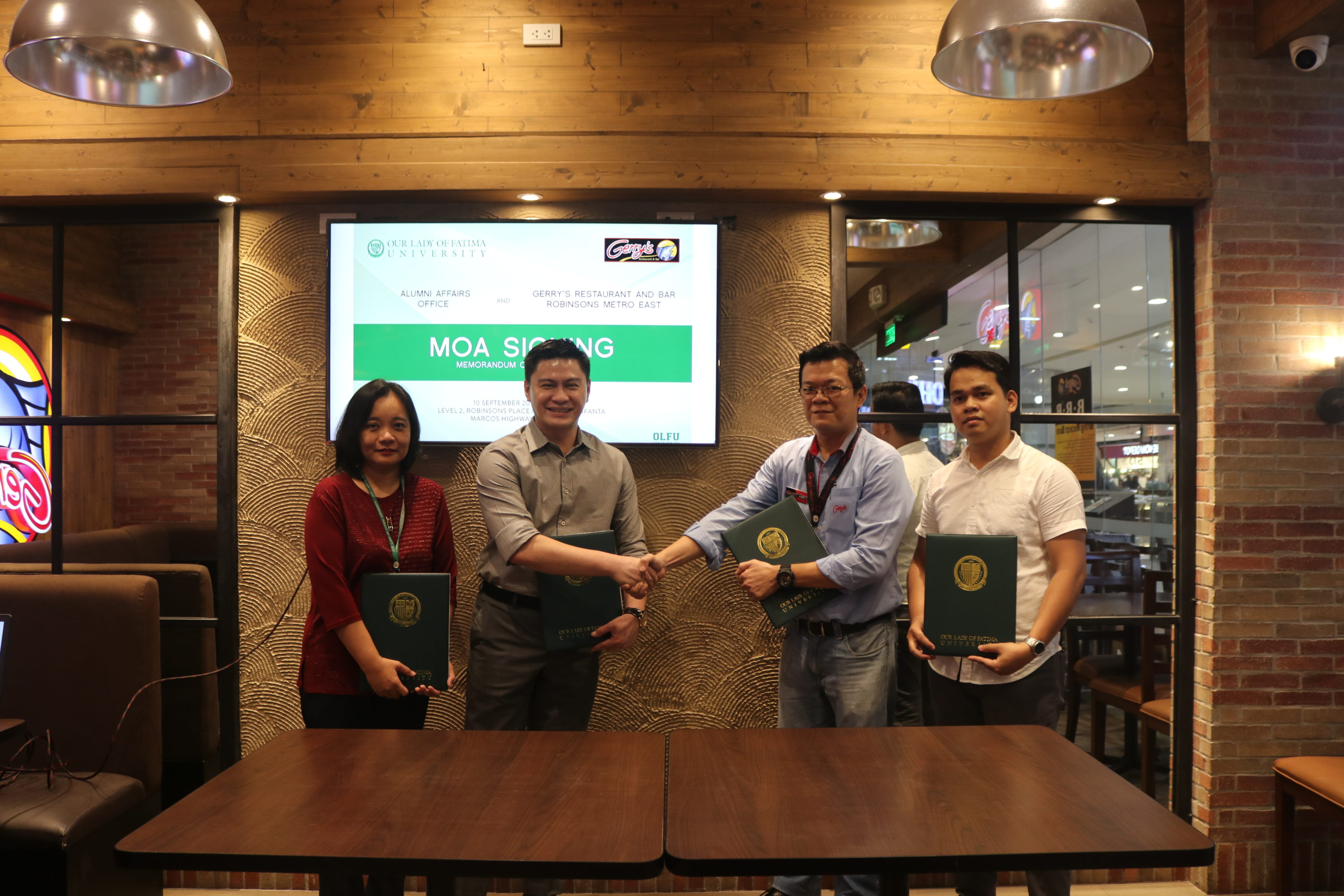 Gerry's Restaurant and Bar powers up Partnership with Fatima