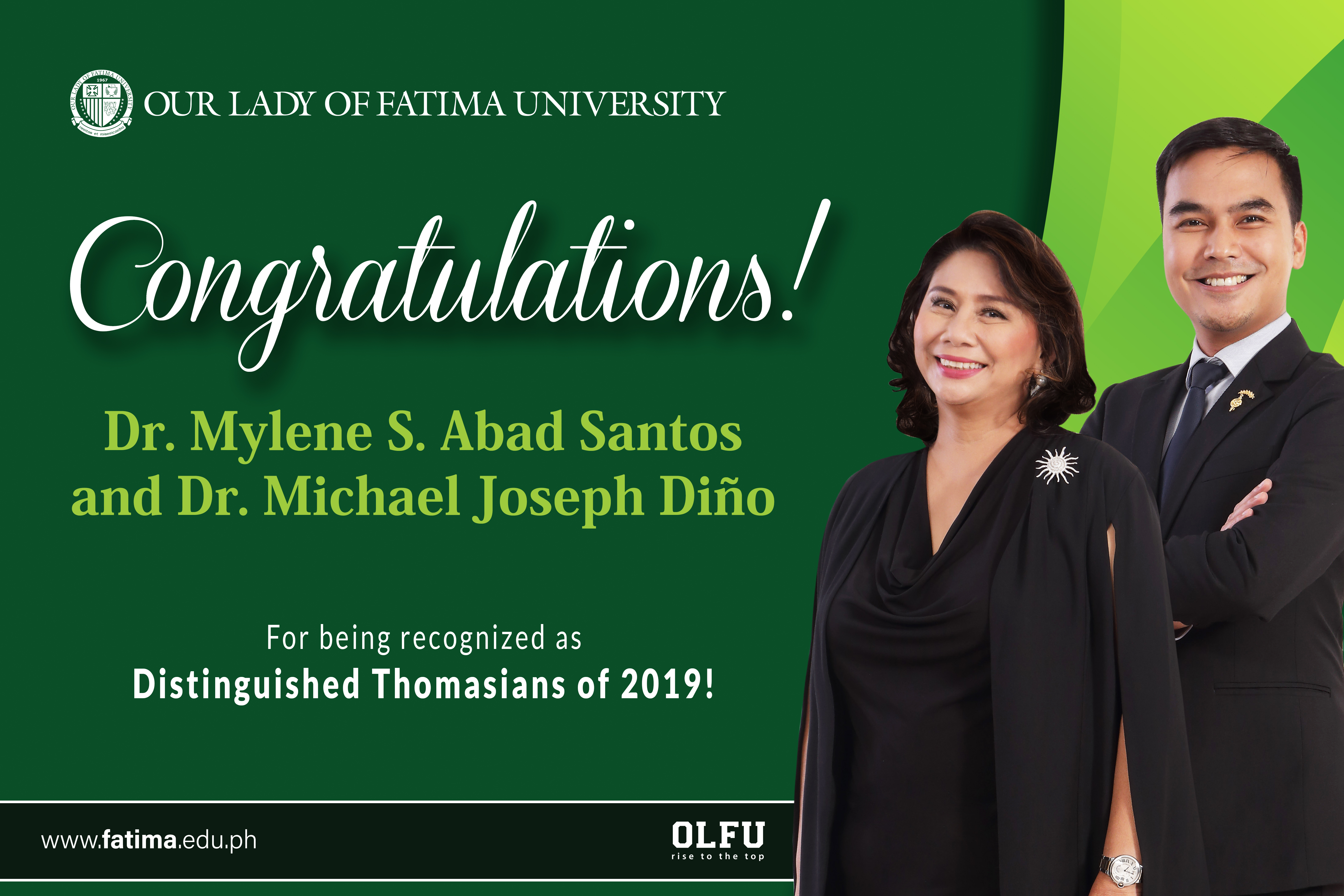 VP for Student Affairs and Director of Research Innovation, hailed Distinguished Thomasians of 2019