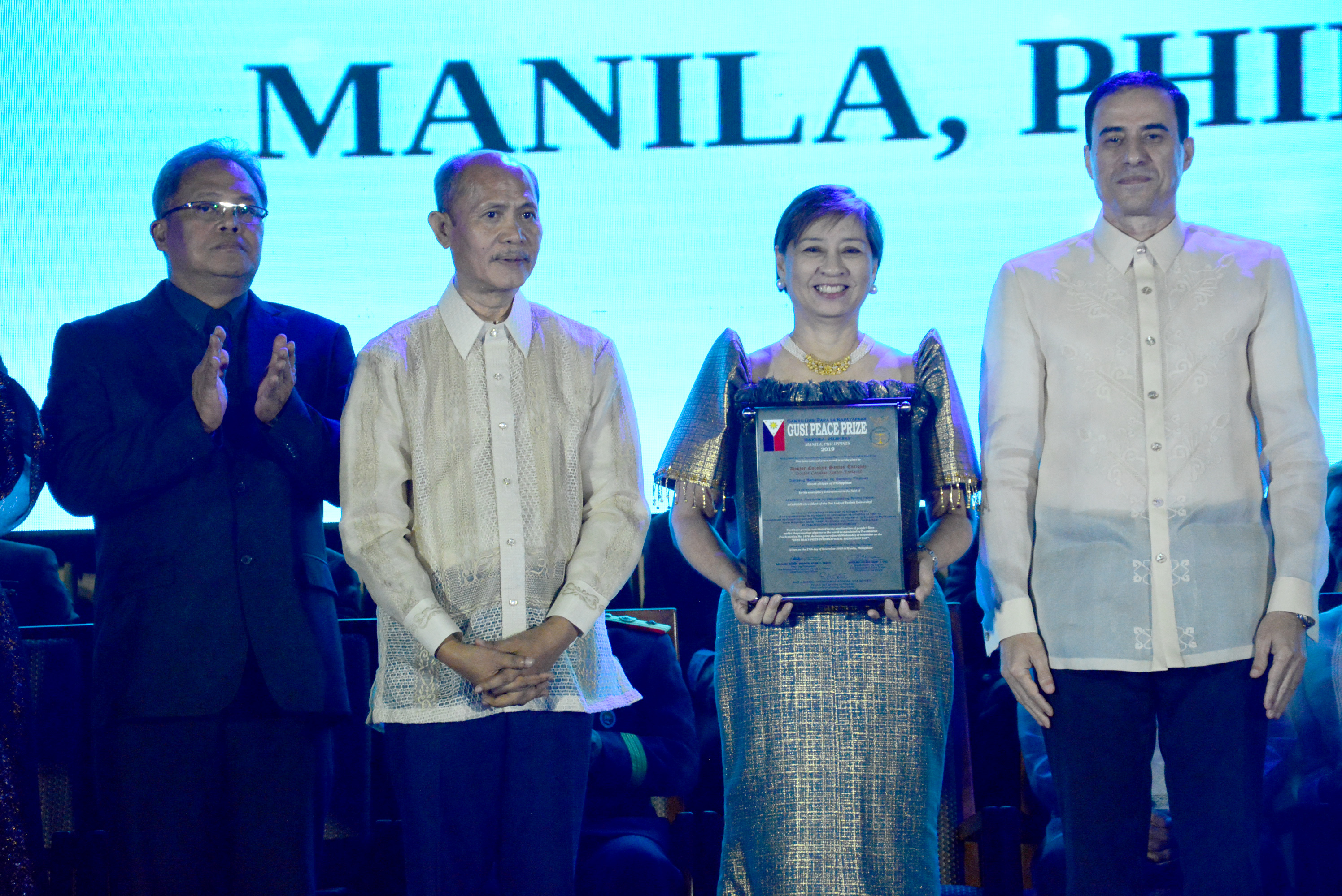 Foremost educator Dr. Caroline Enriquez awarded the Gusi Peace Prize