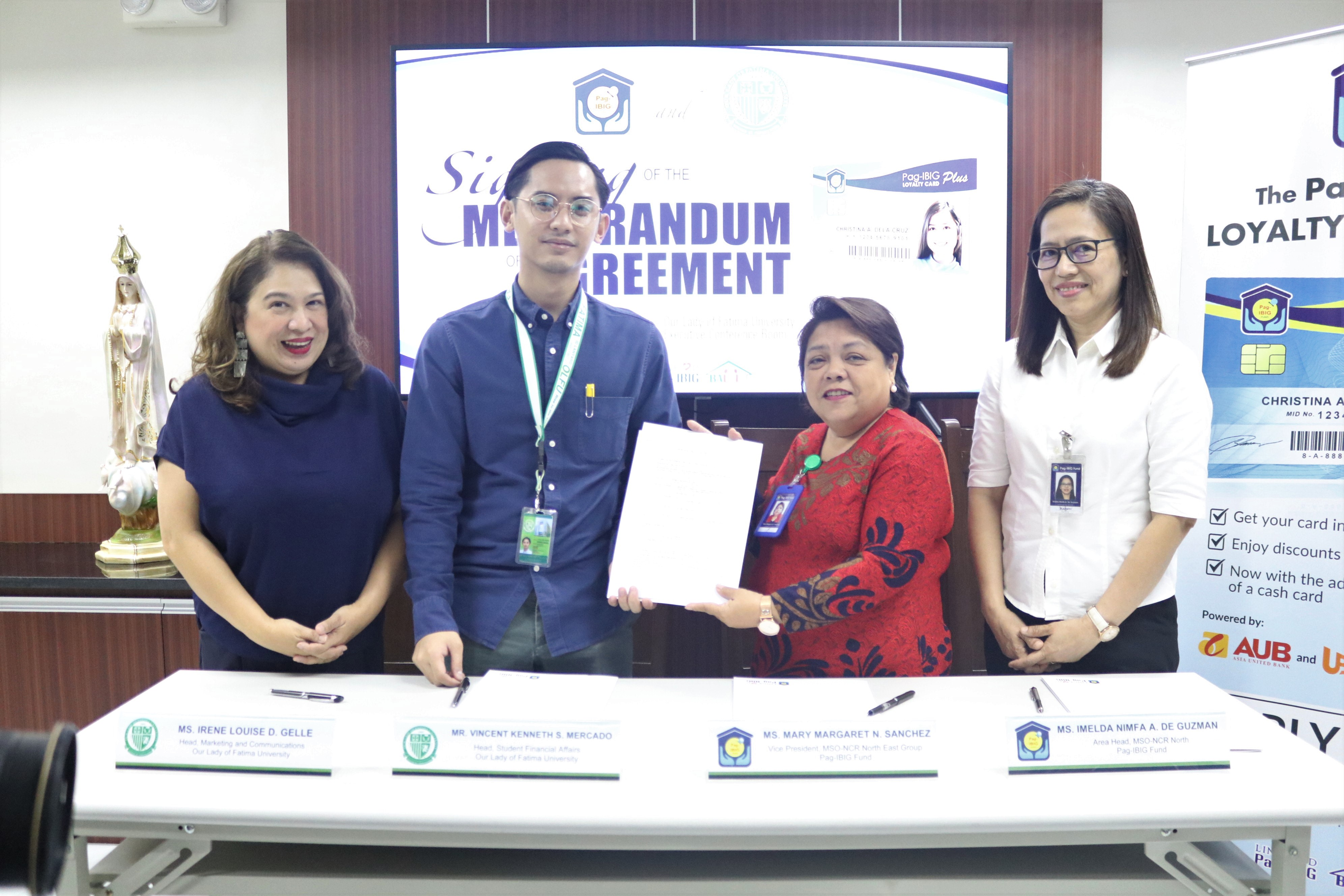 OLFU, now a Pag-IBIG Loyalty Card Partner; Cardholders entitled to Graduate School tuition discount