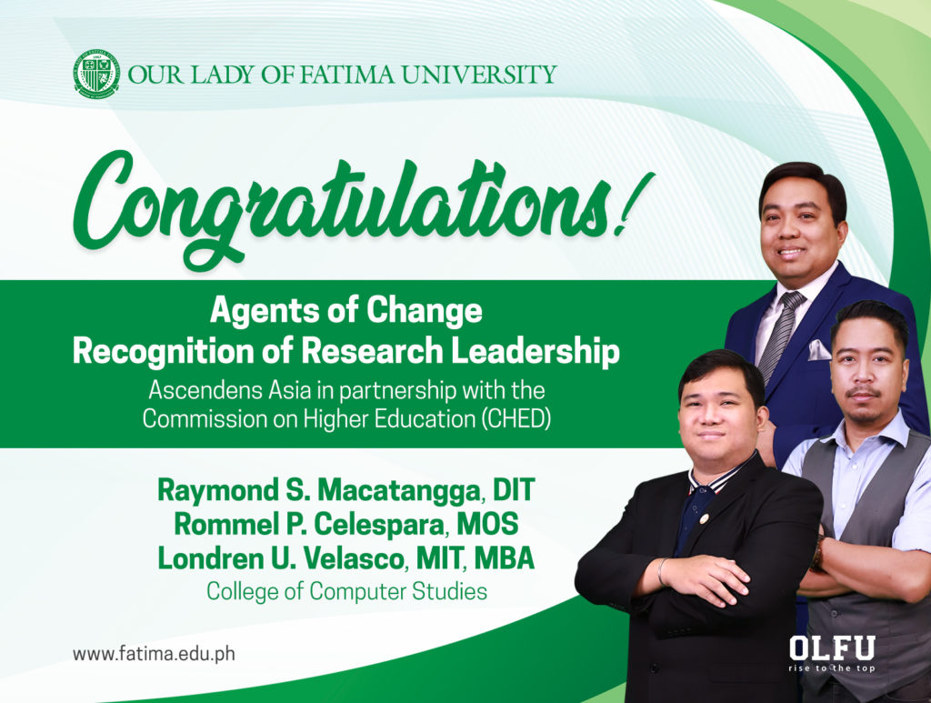 Olfu Ccs Agents Of Change Certificate Of Research Leadership