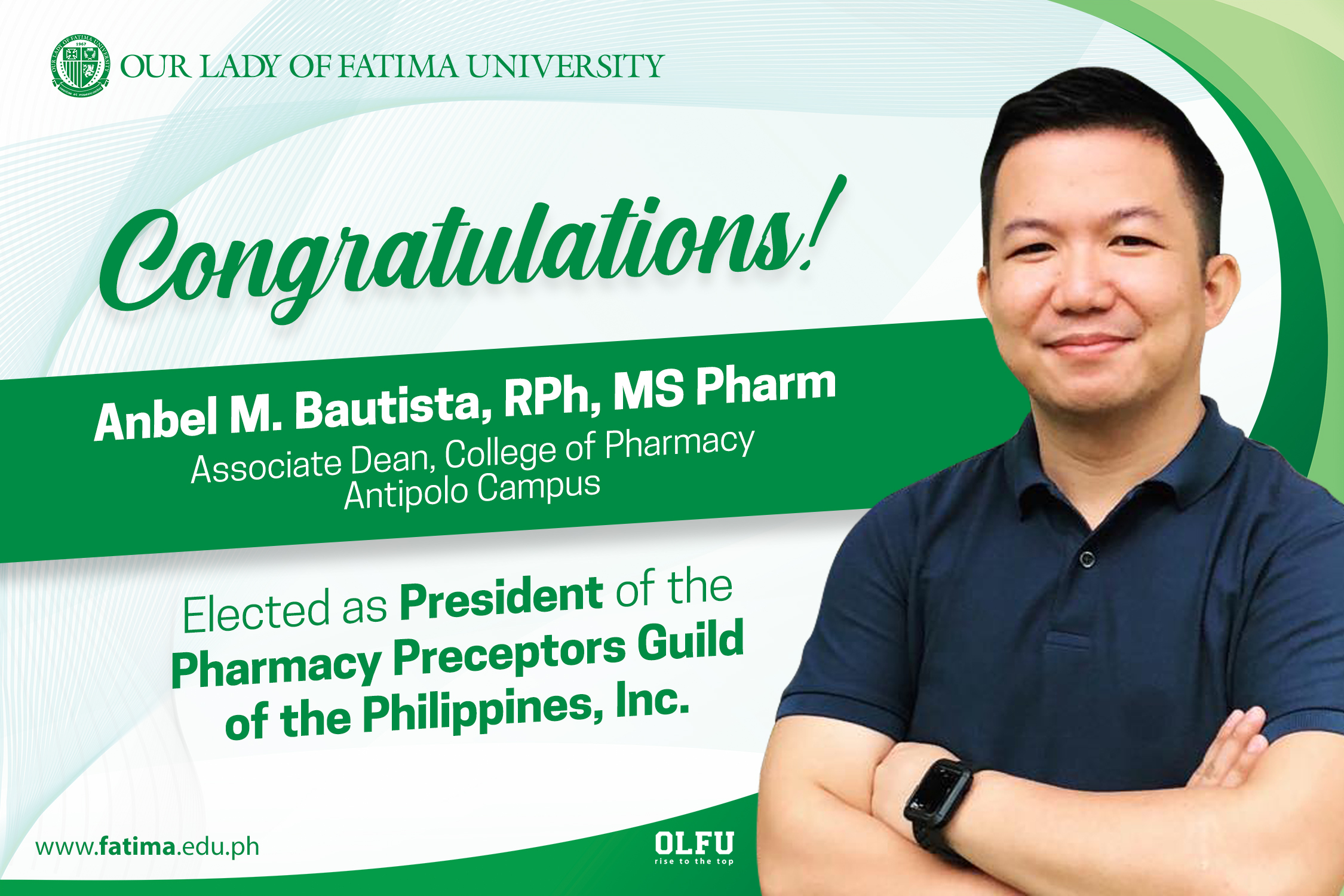 College of Pharmacy's Anbel Bautista, elected as President of PH Pharmacy Preceptors Guild