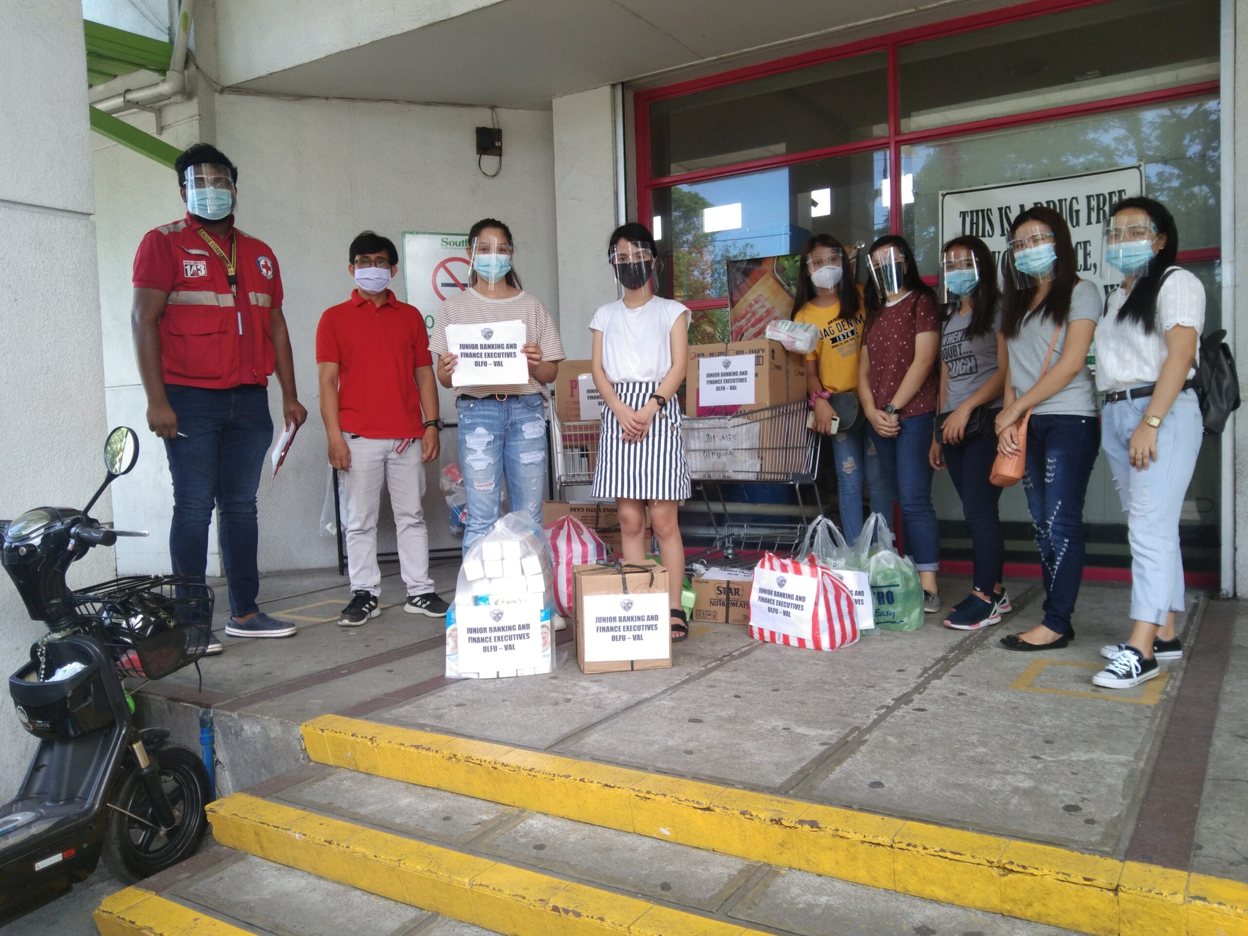 Future Bankers and Execs hold Donation Drive for Typhoon Ulysses Victims