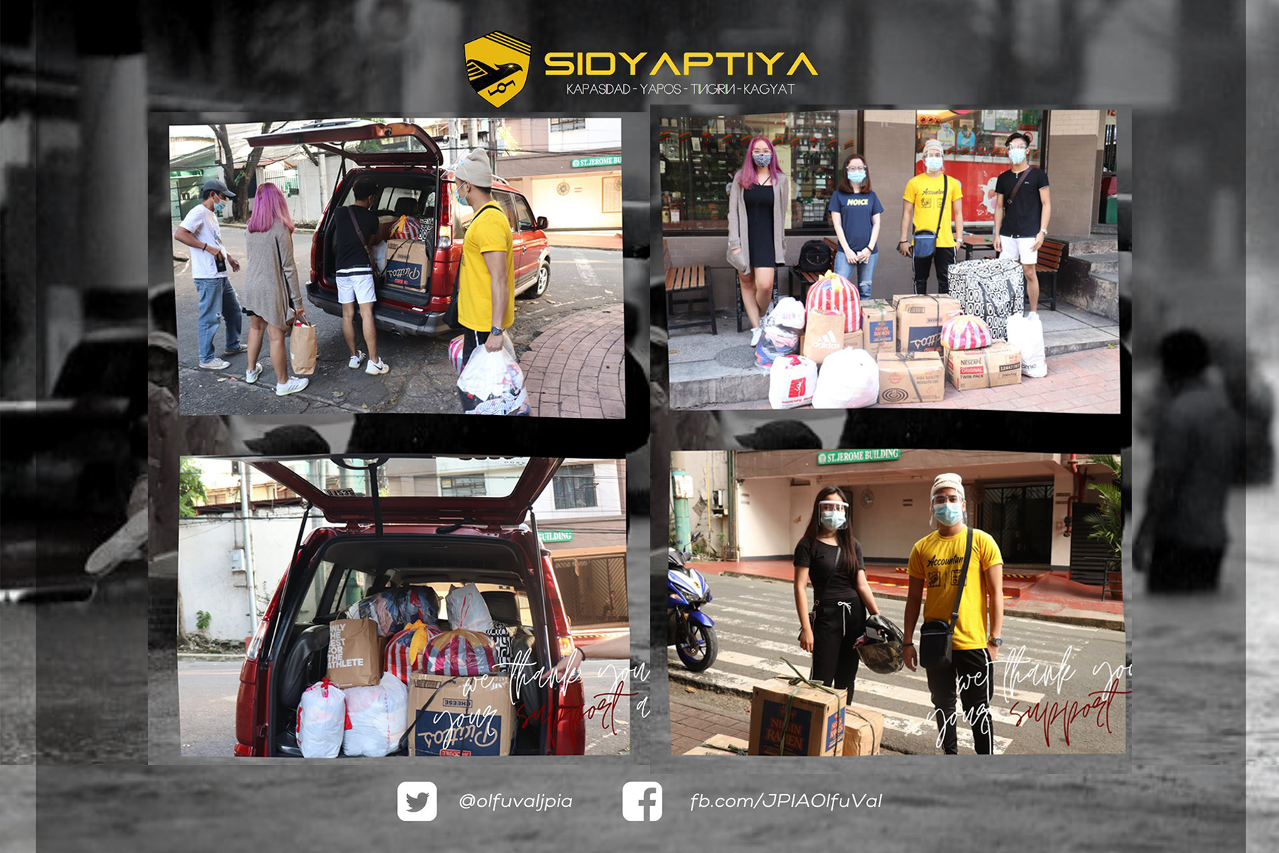 Typhoon Victims get aid through the SIDYAPTIYA Donation Drive initiated by Future Accountants