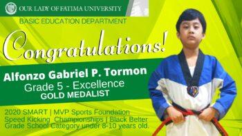 Basic Education Department's Alfonzo Gabriel Tormon wins Gold in National Inter-School Tilt