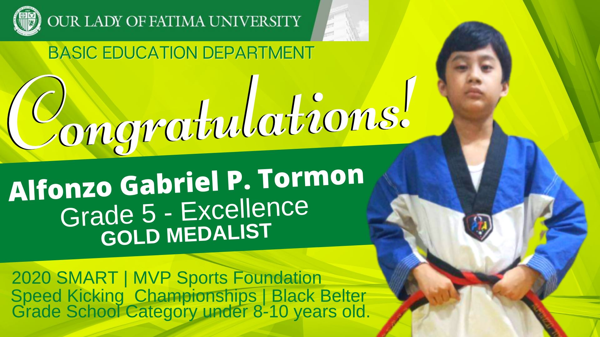 Basic Education Department's Alfonzo Gabriel Tormon wins Gold in National Inter-School Tilt